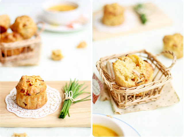 Bacon Cheddar & Chive Muffins