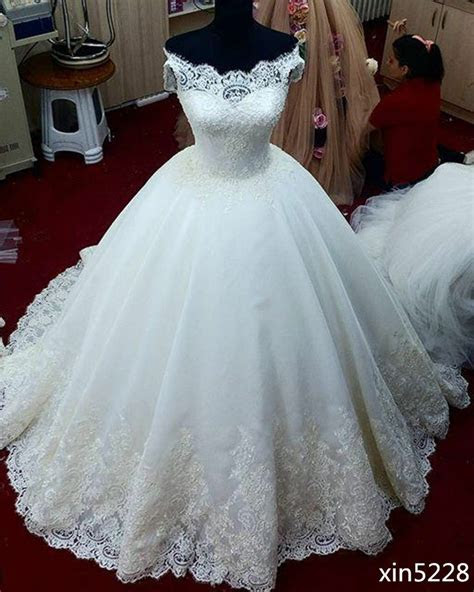 whiteivory ball gown wedding dress bridal gown custom