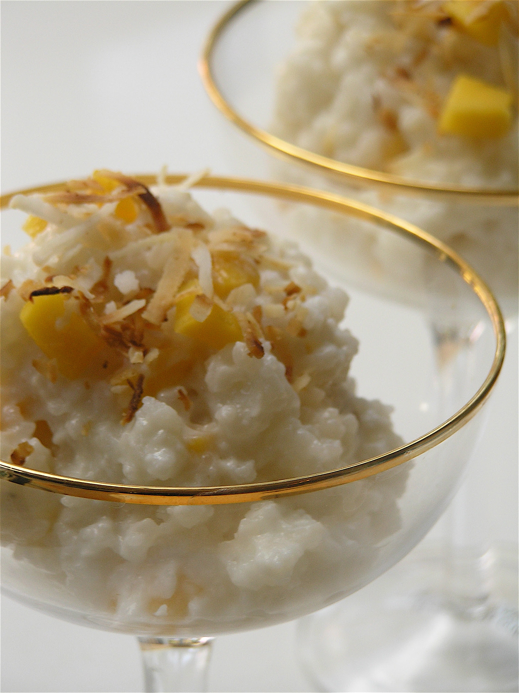 Tropical Coconut Mango Rice Pudding | the zen of slow cooking