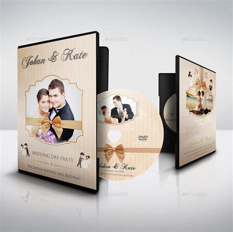 Wedding DVD Cover and DVD Label Template Vol.5 by