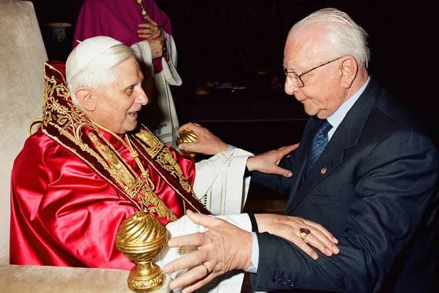 Renato Buzzonetti with Benedict XVI. Credit: L'Osservatore Romano.