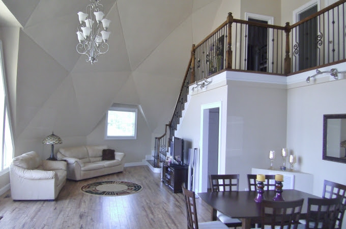 Geodesic Dome Home Interiors Aidomes