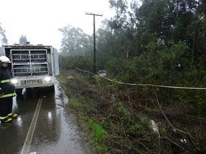 Homem foi encontrado morto dentro de uma caminhonete na SC-350 junho deste ano (Foto: Polícia Civil/Divulgação)
