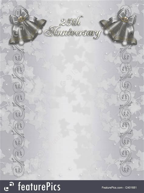 Free 25th wedding anniversary invitations : free templates