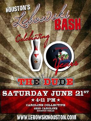 Houston's Lebowski Bash Poster - Celebrating 10 Years of the Dude
