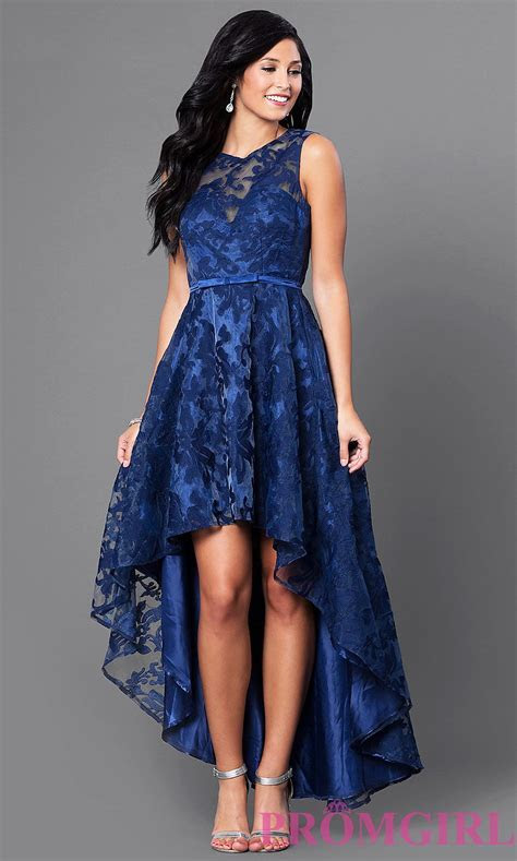 High Low Lace Sleeveless Semi Formal Dress in 2019   Date
