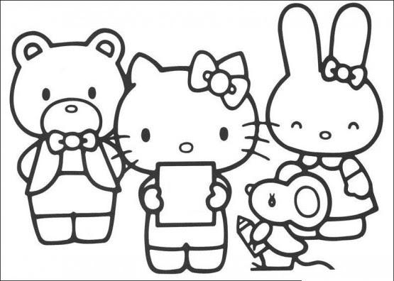 35 Gambar Hitam Putih Hello Kitty