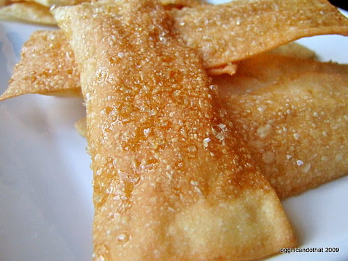 Lavash Crackers With Coarse Raw Sugar