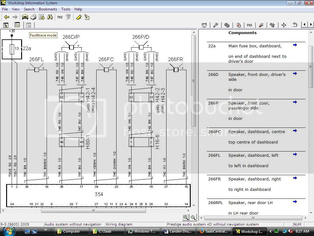Wiring diagram for stereo / amplifier 9-5 2006 ...