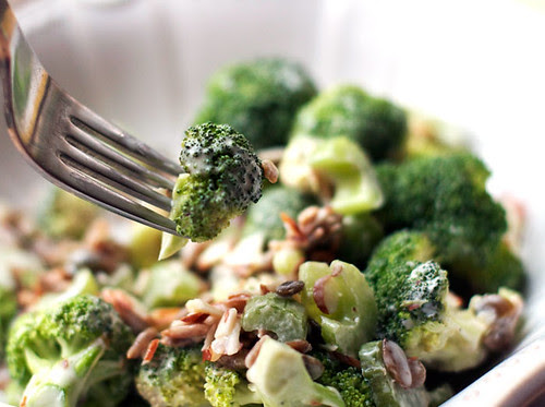 broccoli salad close