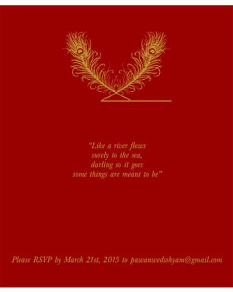 RSVP With Best Compliments Wording