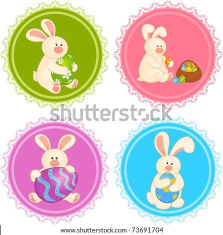 easter bunnies and eggs. easter bunnies and eggs cards.