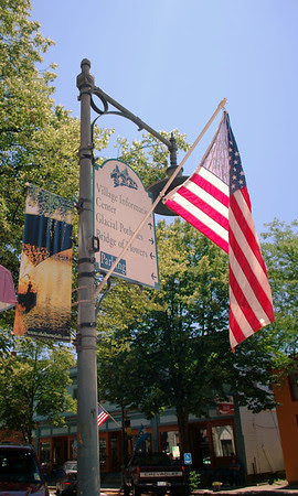 Flag in Shelburne Falls