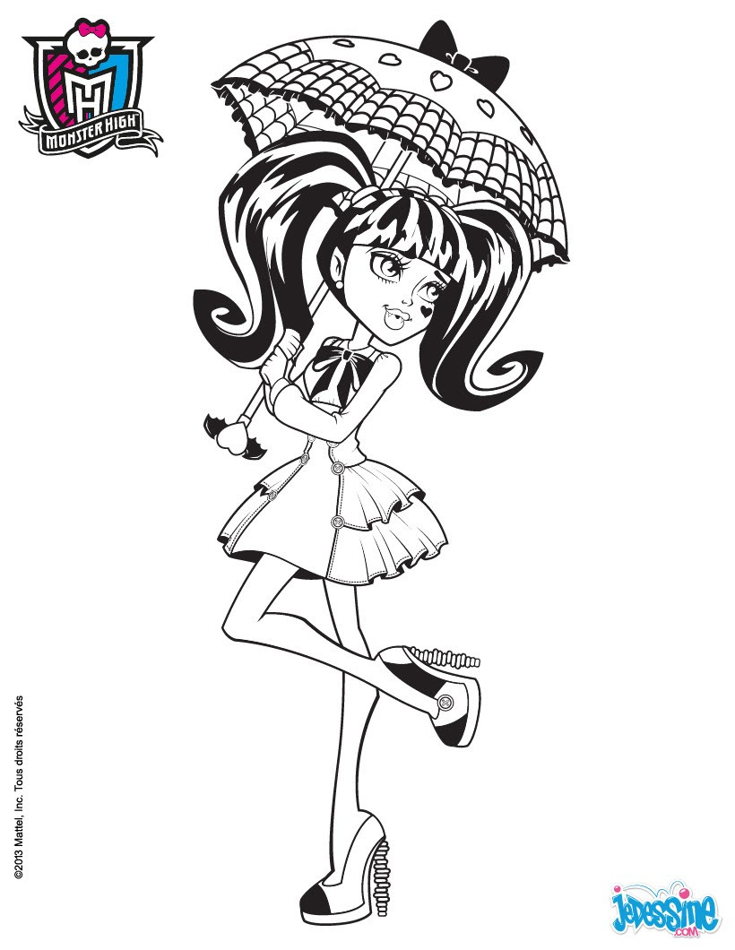 Coloriages Monster High à Imprimer Frhellokidscom