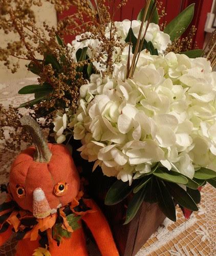 wedding flowers and halloween friend