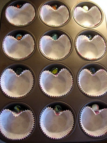 Heart cupcake liners