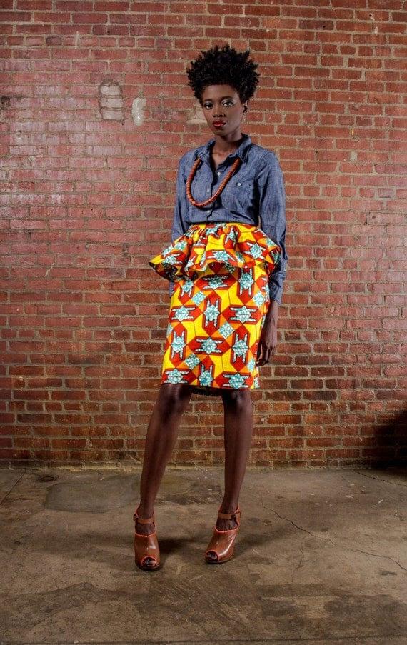 NEW The Kait Bias Cut Peplum Skirt