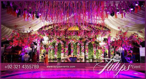 Tulips event   Best Pakistani wedding stage decoration