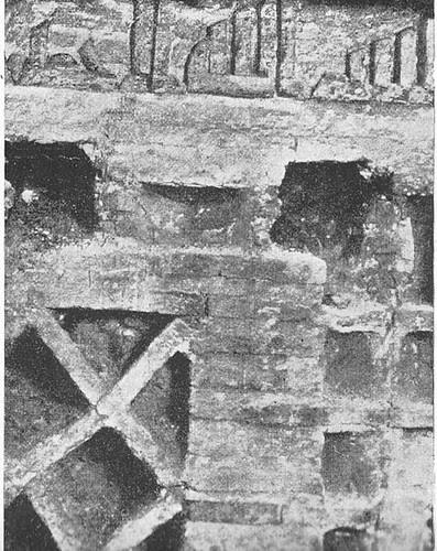 Mezquita del Cristo de la Luz (Toledo), detalle de la inscripción, hacia 1900