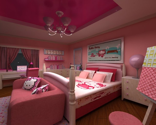 Gambar Desain Kamar Hello Kitty - Mainan Anak