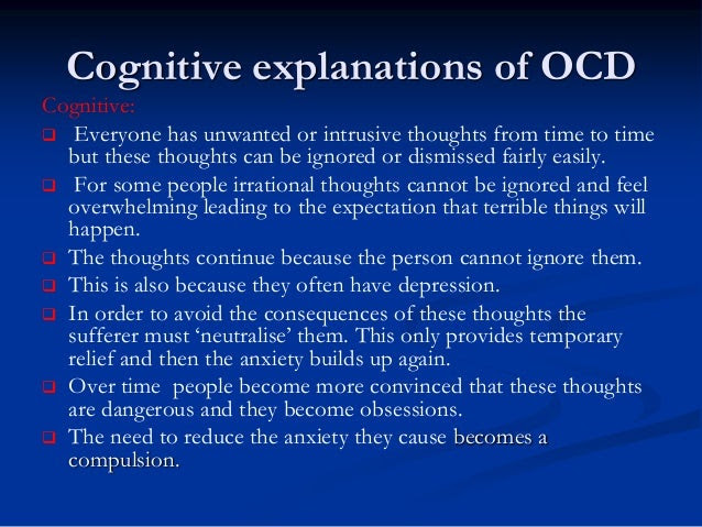 OCD Biological explanations A2