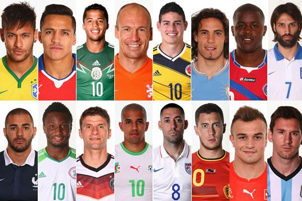 16 seleções e seus craques seguem na Copa do Mundo