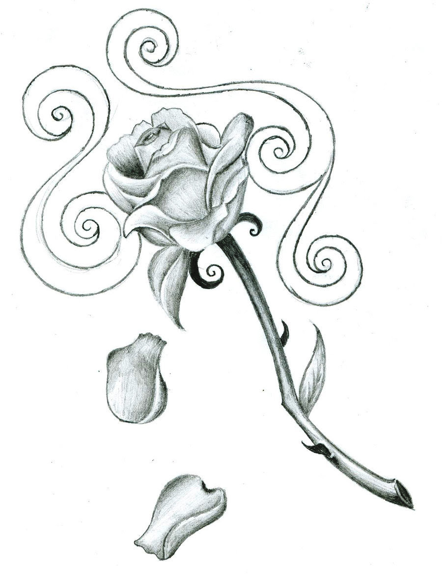Rose Tattoo Drawing Designs At Getdrawingscom Free For Personal