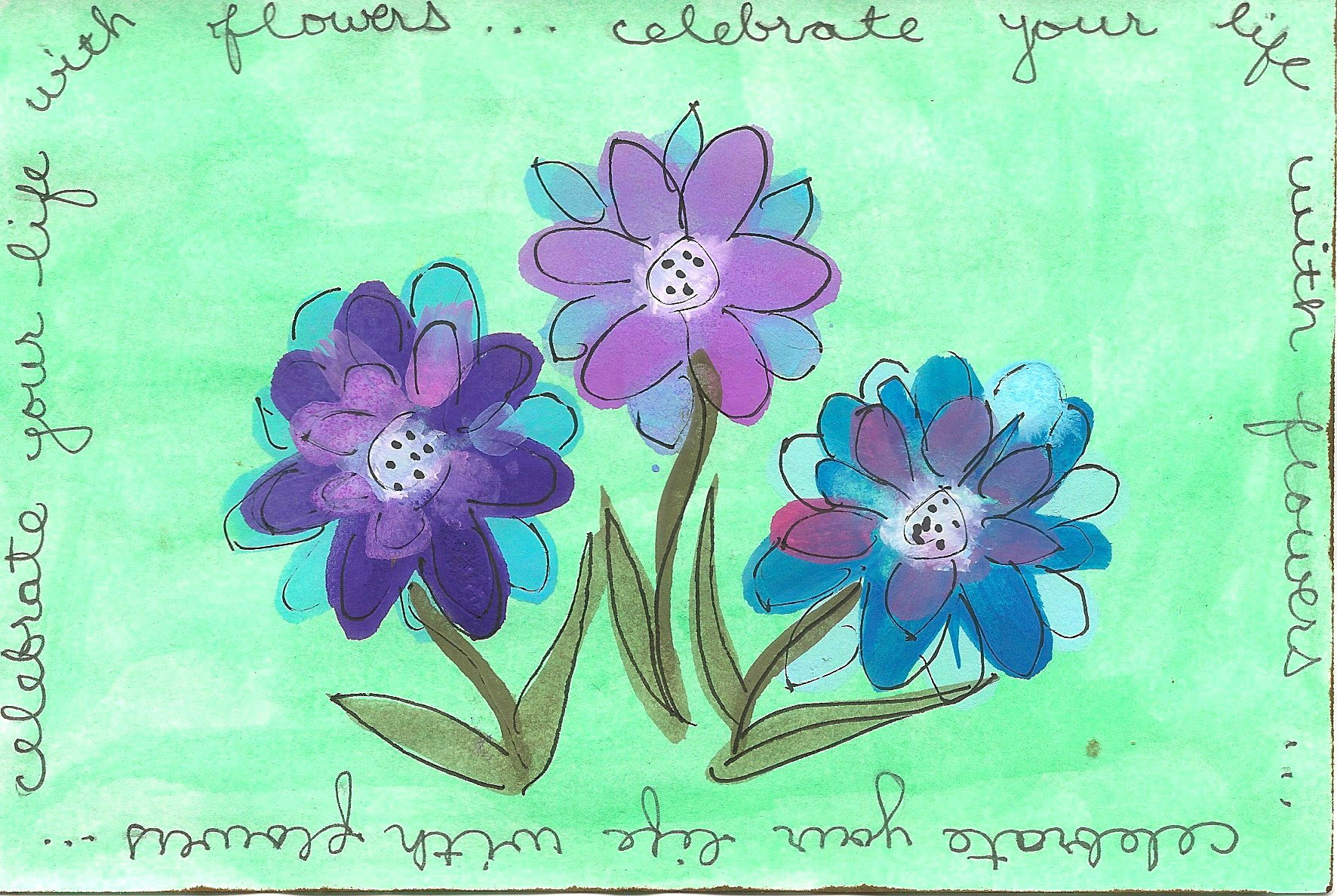 Celebrate With Flowers ICAD