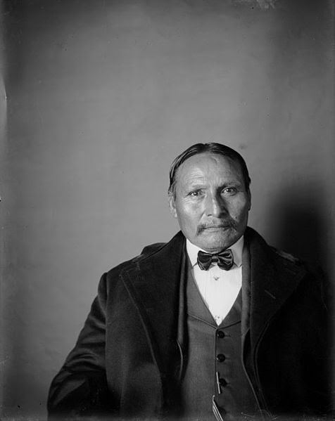 Lone Wolf the Younger, Kiowa. Photo taken by De Lancey W. Gill.  Public domain via Wikipedia Commons.
