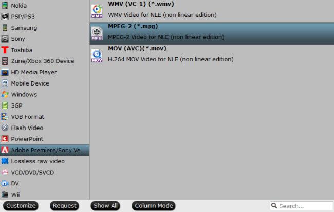 Define output file format