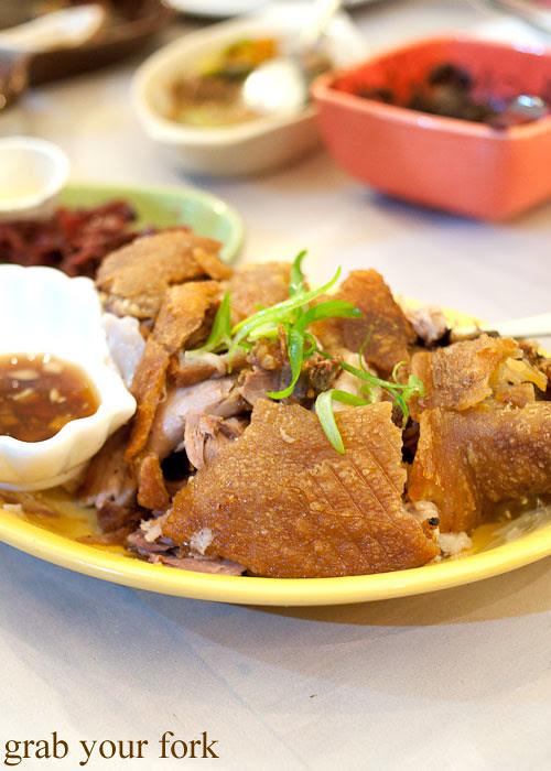 crispy pata deep fried pork leg at lamesa phillipine cuisine haymarket chinatown