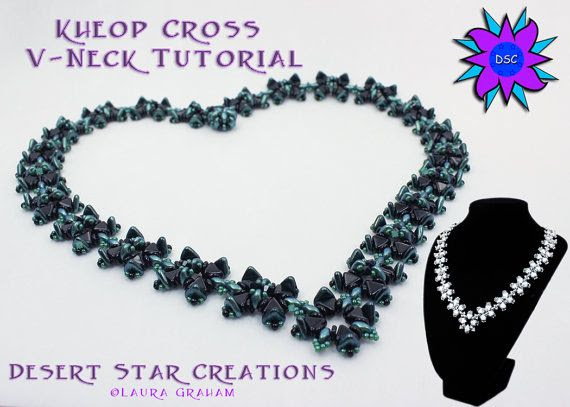 Kheop Cross Vneck Necklace Tutrorial by DesertStarCreations