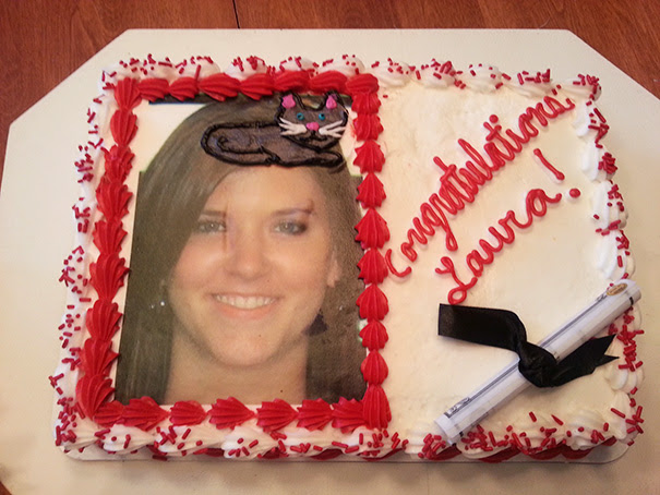 My Mom Ordered A Graduation Cake With A Cap Drawn On. I Guess They Misheard