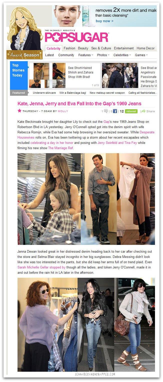 Jenna Dewan-Tatum Shopping at The Gap on PopSugar.com