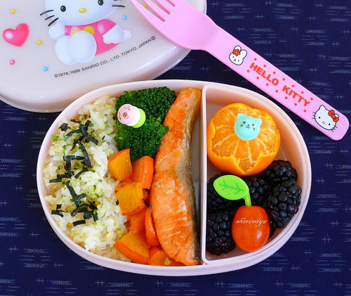 Salmon Butteryaki and Furikake Rice Bento by sherimiya ♥
