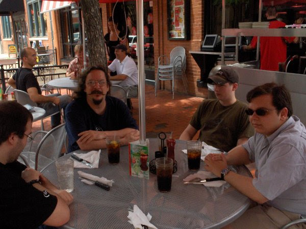 Picture of Chris' farewell lunch