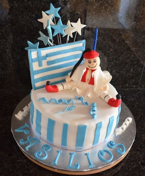 Yassou Ellinika!!! #Greek #Greece #Flag #cake   Cakes