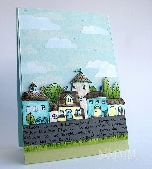 Squigglefly Whimsy Town by mel stampz