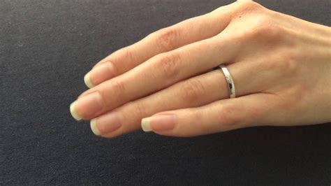 3mm Wedding Ring   Flat Shape & Flat Court Shape View