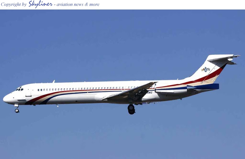 Mswati's MD-87 in Johannesburg, South Africa