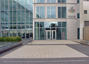 BBC Media Village (with 1908 Olympic athletics finishing line)