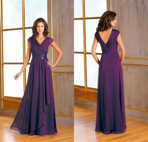 2017 Formal Dark Purple Plus Size Mother Of The Bride