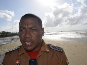 Comandante do Corpo de Bombeiros, Miguel Rosário (Foto: Dyepeson Martins/G1)
