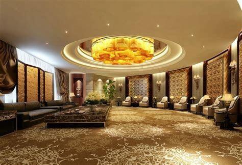 circular reception hall decorating ideas with luxury false