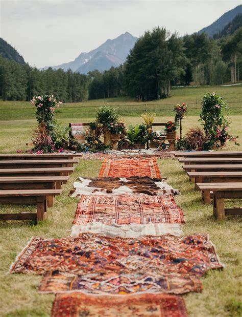 Glam Meets Boho in this Aspen Wedding   CEREMONY IDEAS