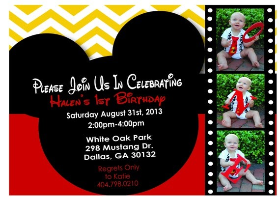 Personalized Mickey Mouse Invitations is great invitation example