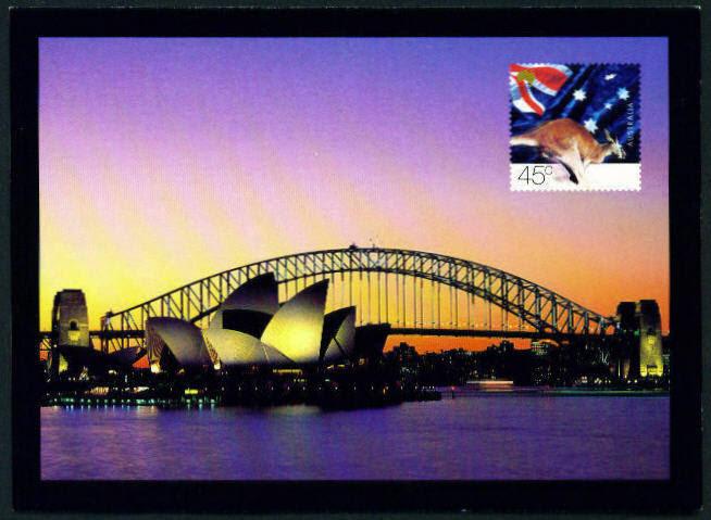 Postcard 45c Kangaroo