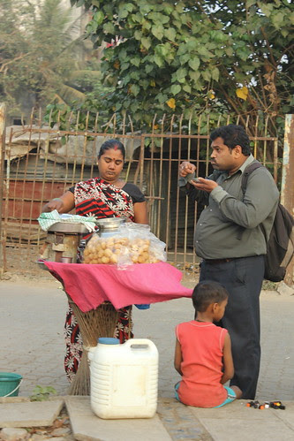 The First Pani Puri Bhaiyya Lady .. I Salute Her Perseverance by firoze shakir photographerno1