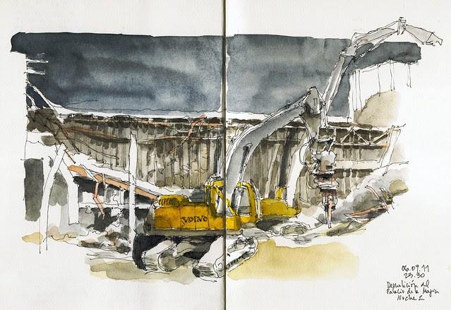 Málaga, night demolition, day 2