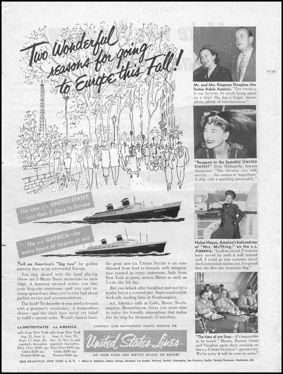 OCEAN LINER TRAVEL TIME 08/17/1953 p. 1